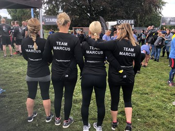 Diane, Shez , Fiona and Kerry ready for tough mudder 10 miles