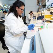 Scientists in Edinburgh working on ovarian cancer research.