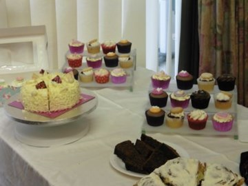 Some of the yummy cakes home made and donated for the cake sale. If you would like to bake for our next sale, please contact us.