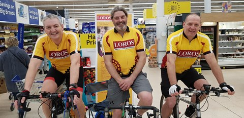 Collecting at Tesco - Leicester Skeg riders