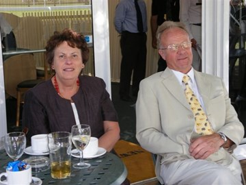 Mum and Dad enjoying a day at the races