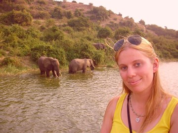 Me with the elephants at QE park