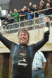 Steve Victorious after raising £15k