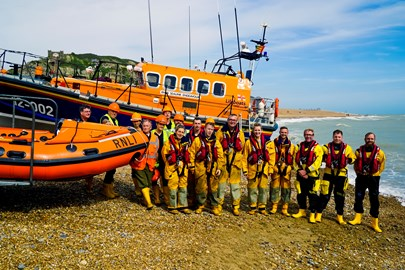 Hastings Lifeboat and crew