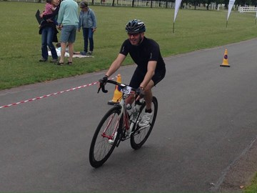 Relieved at the finish of the Newmarket Hilly 50