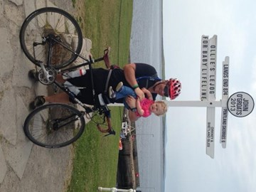 Me and Evie at John O'Groats