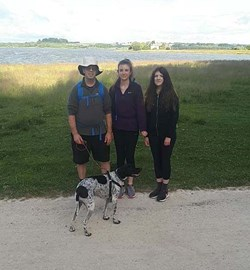 Myself, Emma & Jessic with Ruxley Paul's dog at Rutland.