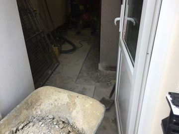 Kennel floors being dug up at the GSPCA