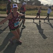 Ana running the Comrades Ultra-marathon in South Africa, 90Km