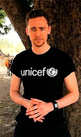 Tom Hiddleston in Guinea for Unicef.