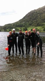 Alison, Alex, Pete, Emma, Mike abd Oliver in Rydal