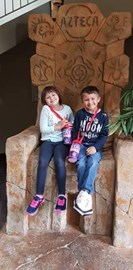 Emma and James are brother & sister, both have had bone marrow transplants. At Chessington last year just before James was admitted for his