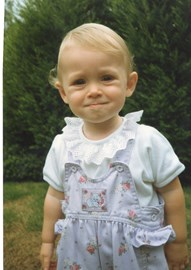 Emma as a cheeky Baby