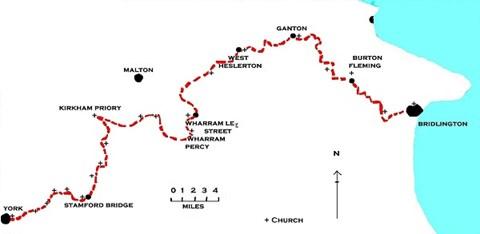 Pilgrimage from York Minster to Bridlington Priory