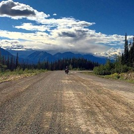 Roads in the Yukon, Canada, are pretty rough