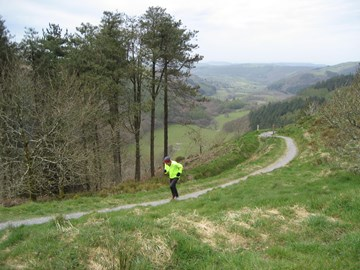Training in the Welsh hills at Nant yr Arian.
