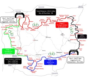 Tour de Stansted Map