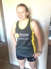 Me in my Shine running shirt