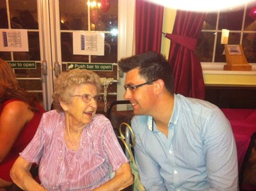 My Nan and Me in August 2013