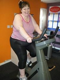 Cheryl training in Woodlands gym