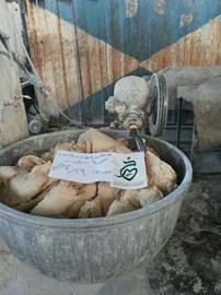 Bread being made at a Khayr Charity Foundation bakery in northern Syria