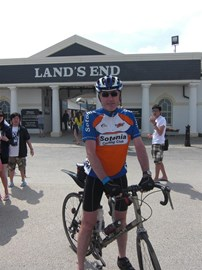 At Land's End, 9 days and 960 miles!