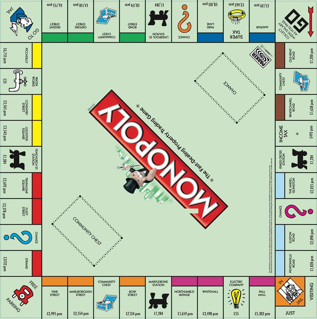 Best Monopoly Template Images Gallery >> Fantastic Blank Monopoly ...