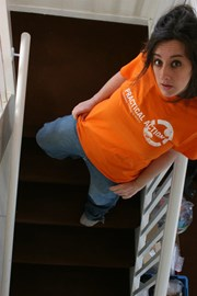 Me in my Practical Action T shirt.