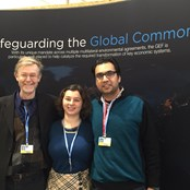 Alan Channer, Irina Fedorenko and Rishabh Khanna (ILLP executive team) at the UN Climate Summit