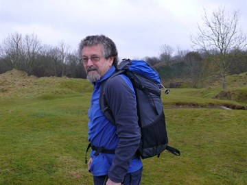 In training, Ham Hill, Somerset