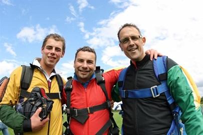 Ollie, Matt and me post-skydive!!