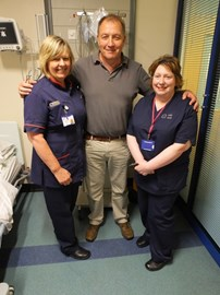 With Matron Penny Morgan and Ward Sister Nerys Jones
