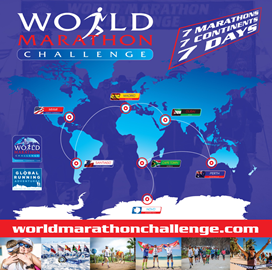 The World Marathon Challenge '777' route for 2019.