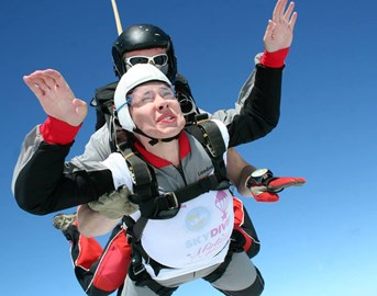 The first skydive for Matilda