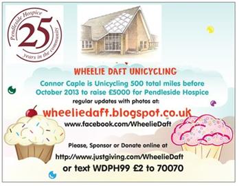 Wheelie Daft riding for Pendleside!