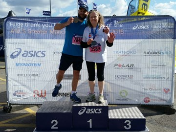 Medals for Manchester finishers