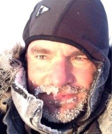 Steve on day two of his North Pole challenge.