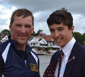 With Sir Matthew Pinsent at Henley