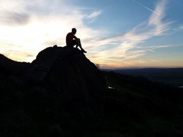 Sunset Running...taking a break