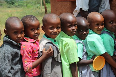 Lunchtime.  Your money pays for the daily meal of 230 children at this school.