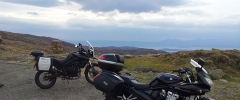 The summit of the Bealach na Ba pass crossing to Applecross