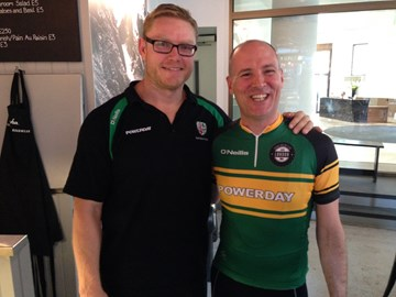 with London Irish rugby star Tom Court at our launch