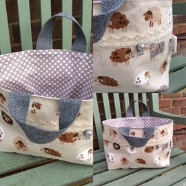 Sheep project bag from Gilly Makes