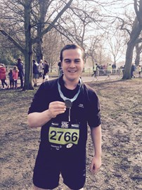 Dan after completing the Wakefield Hospice 10K - thank you for all of your support!