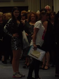 Waiting to go out onto the catwalk...