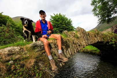 Joss & Lassie, Packhorse Bridge, Wasdale Head
