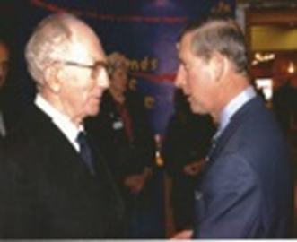 With Prince Charles at The Mary Rose