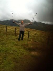 Dot on top of Hudderstone. Last summit.