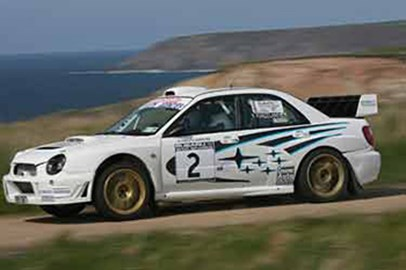 Subaru World Rally car action!