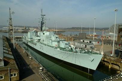 HMS Cavalier at The Historic Dockyard Chatham